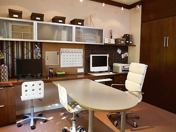 Murphy Bed In A Home Office Contemporary Home Offices Home Office Design Shared Home Offices
