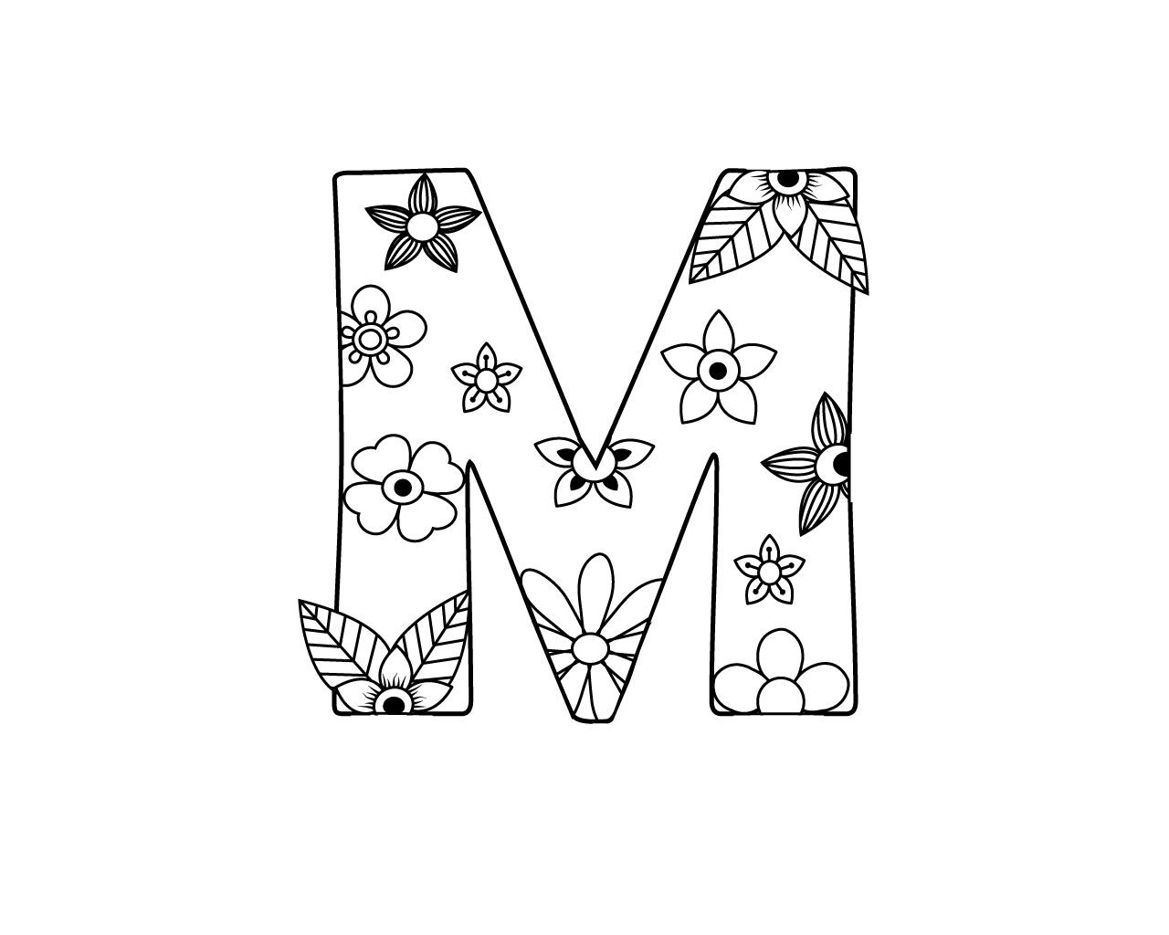 Free Printable Letter M Coloring Page Letter M Coloring