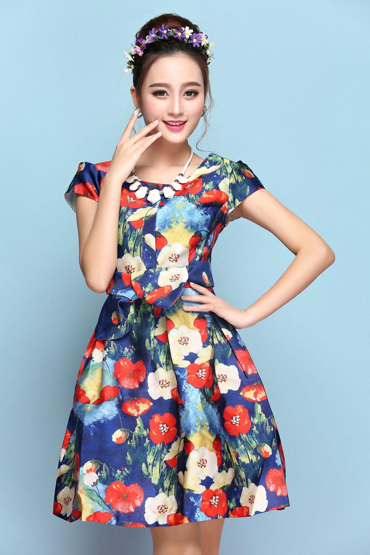 Find more dresses information about grace women girl short sleeve