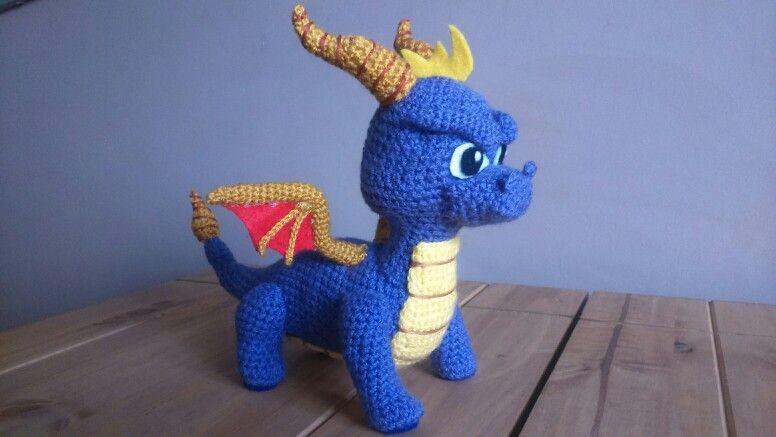 Elemental Air Dragon Crochet Amigurumi Digital PDF Pattern by ... | 437x776