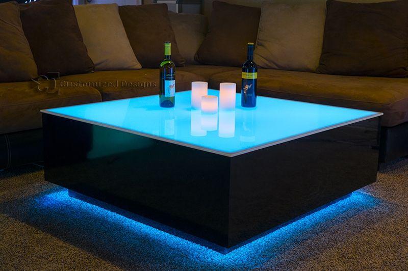 Cube Led Coffee Table Coffee Table Design Led Furniture Coffee Table