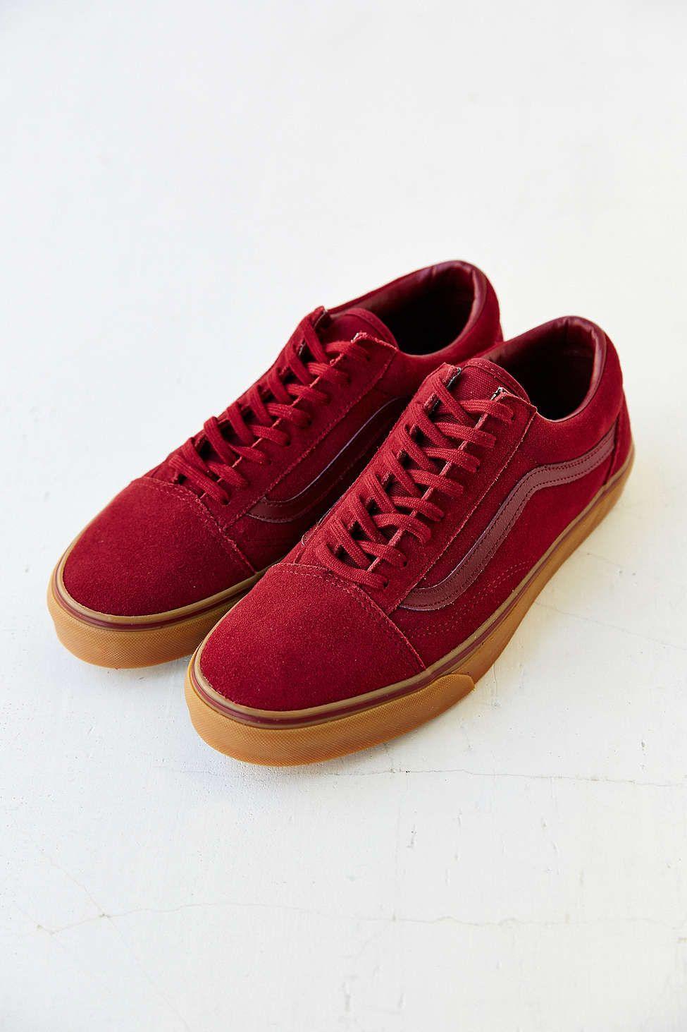 vans gum sole old skool red