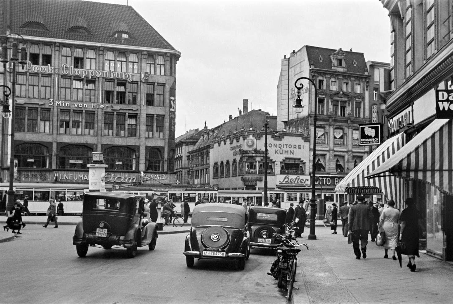 Berlin 1937 Blick Uber Den Spittelmarkt Niederwallstr Croner Harry Deutschland Berlin Geschichte Leipziger Platz