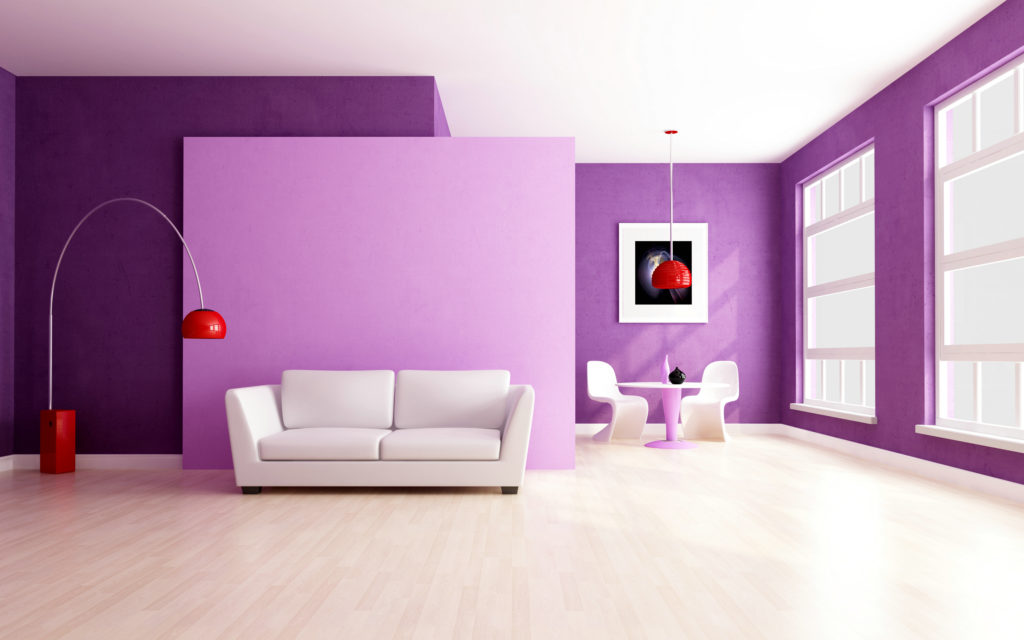 Magnificent Arch Design Paint : Glamorous Purple Wall Colors Living ...