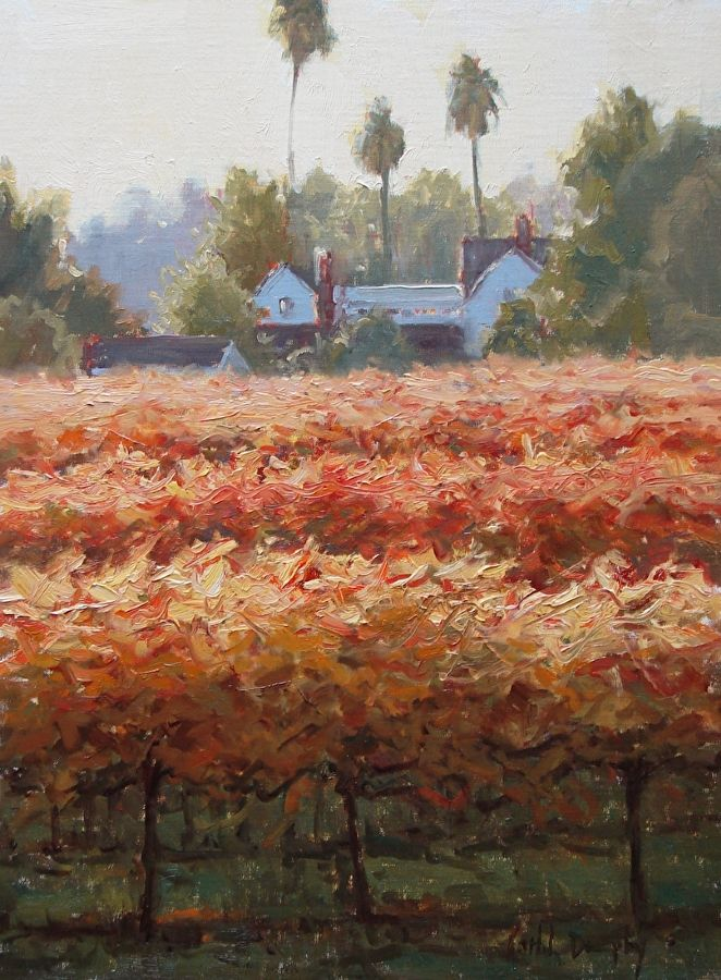 Napa Red Vines by Kathleen Dunphy Oil ~ 16 x 12