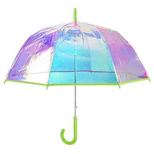 Renforc/é avec Fibre de Verre Parapluie Canne -/Ouverture Automatique 16 Baleines TR/ÈS Robuste 95KPH Color/é COLLAR AND CUFFS LONDON 16 Couleurs Cadre Triple Couche Arc en Ciel