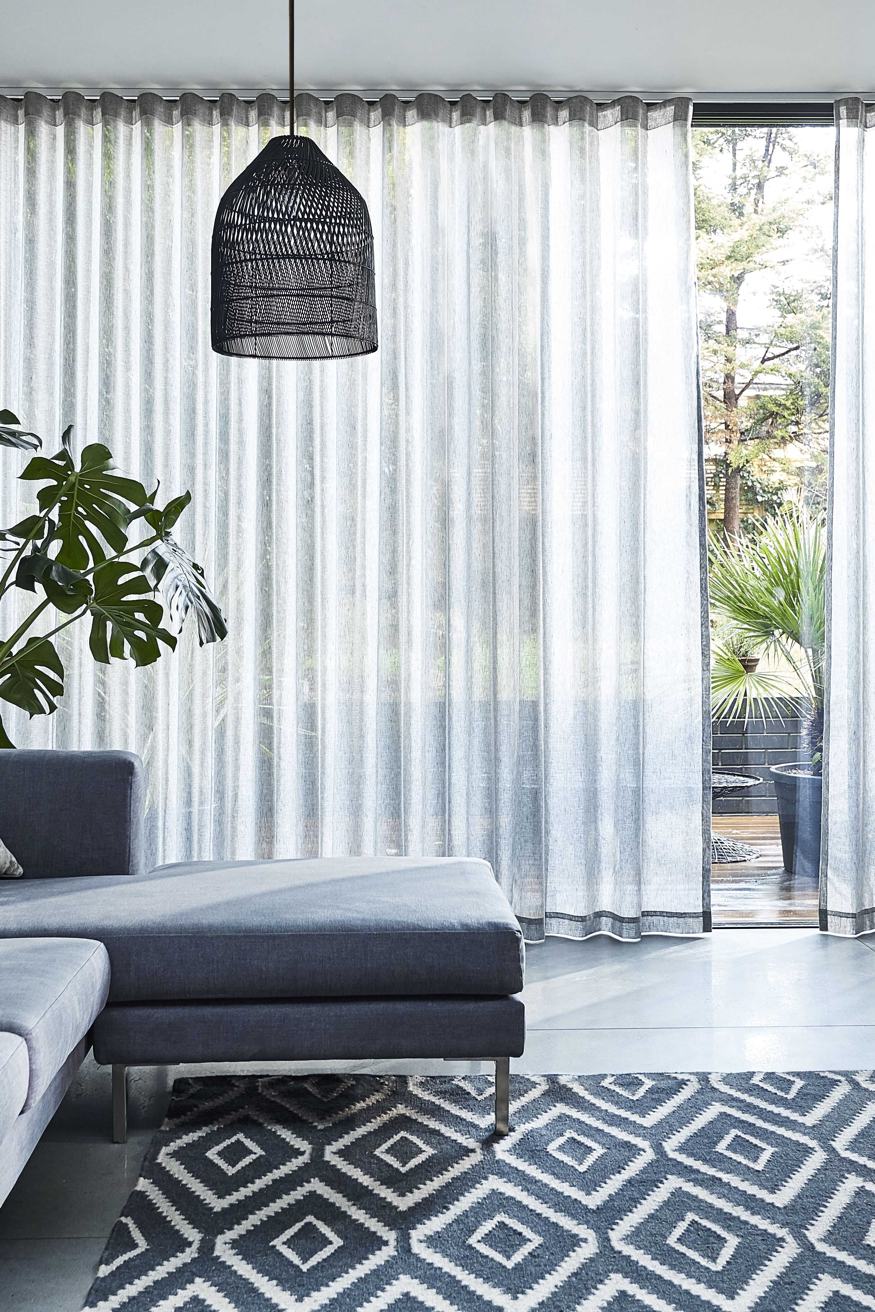 Wave Thorens Voile Smoke Curtains Contemporary Curtains Window