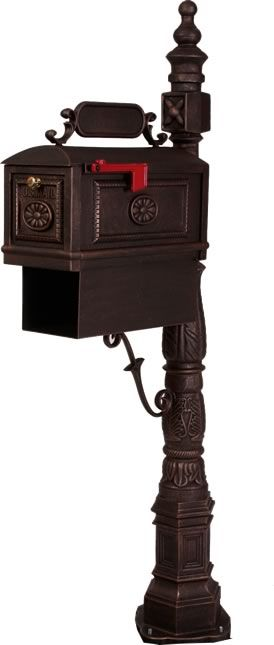 Bbpb R Traditional Decorative Cast Aluminum Curbside Mailbox With Paper Box Bronze Classic Mailbox Mailbox