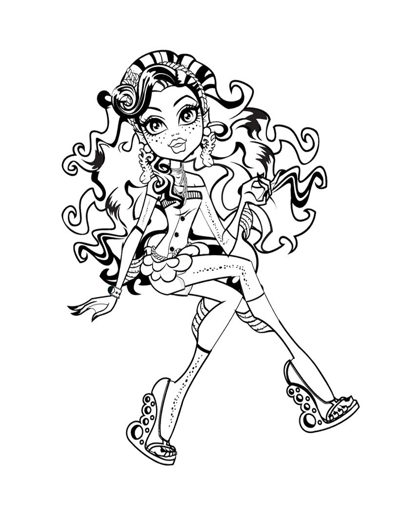 This Lagoona Blue Seated Cross Legged Coloring Page Monster High