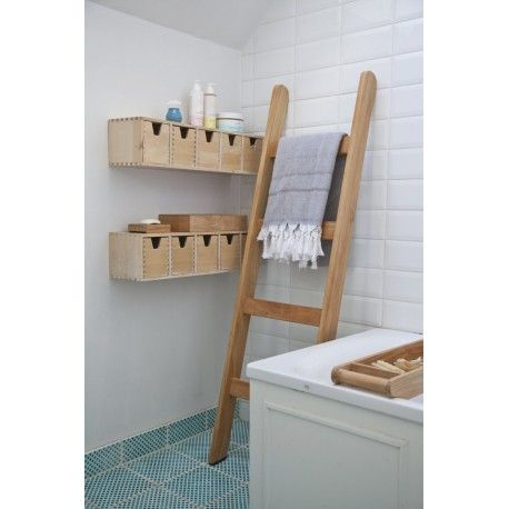 Leuke decoratie ladder voor in de badkamer of slaapkamer ...