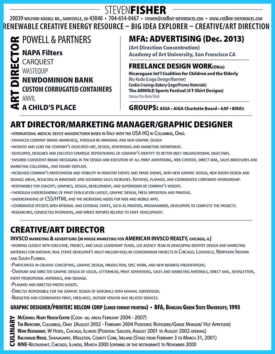 If You Want To Work As An Art Director You Should Make An Art Director Resume As An Art Director You Should Be An Artist Interactive Art Art Director Resume