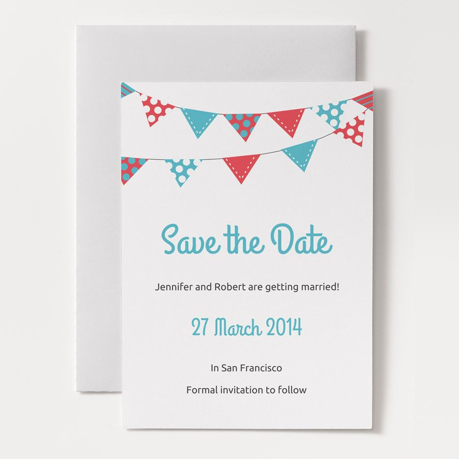 bunting invitation Google Search Party time Pinterest