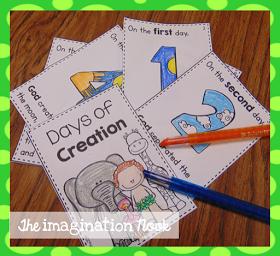Theimaginationnook Seven Days Of Creation Preschool Bible Lessons Sunday School Preschool Sunday School Activities