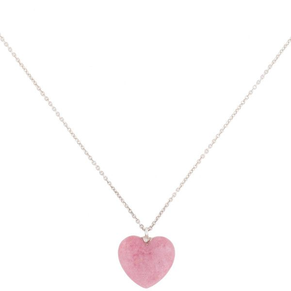 Pre Owned Tiffany Co Carved Heart Pendant Necklace Pink Pendant Necklace Pink Heart Jewelry Sterling Silver Heart Jewelry