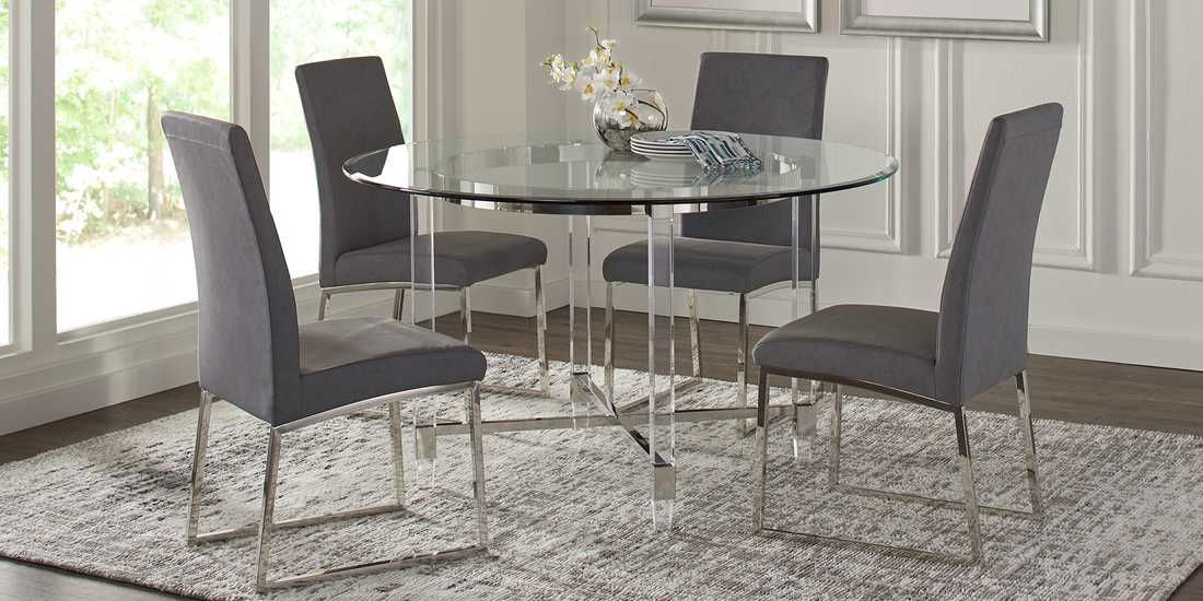 22+ 36 inch round glass dining table and chairs Best