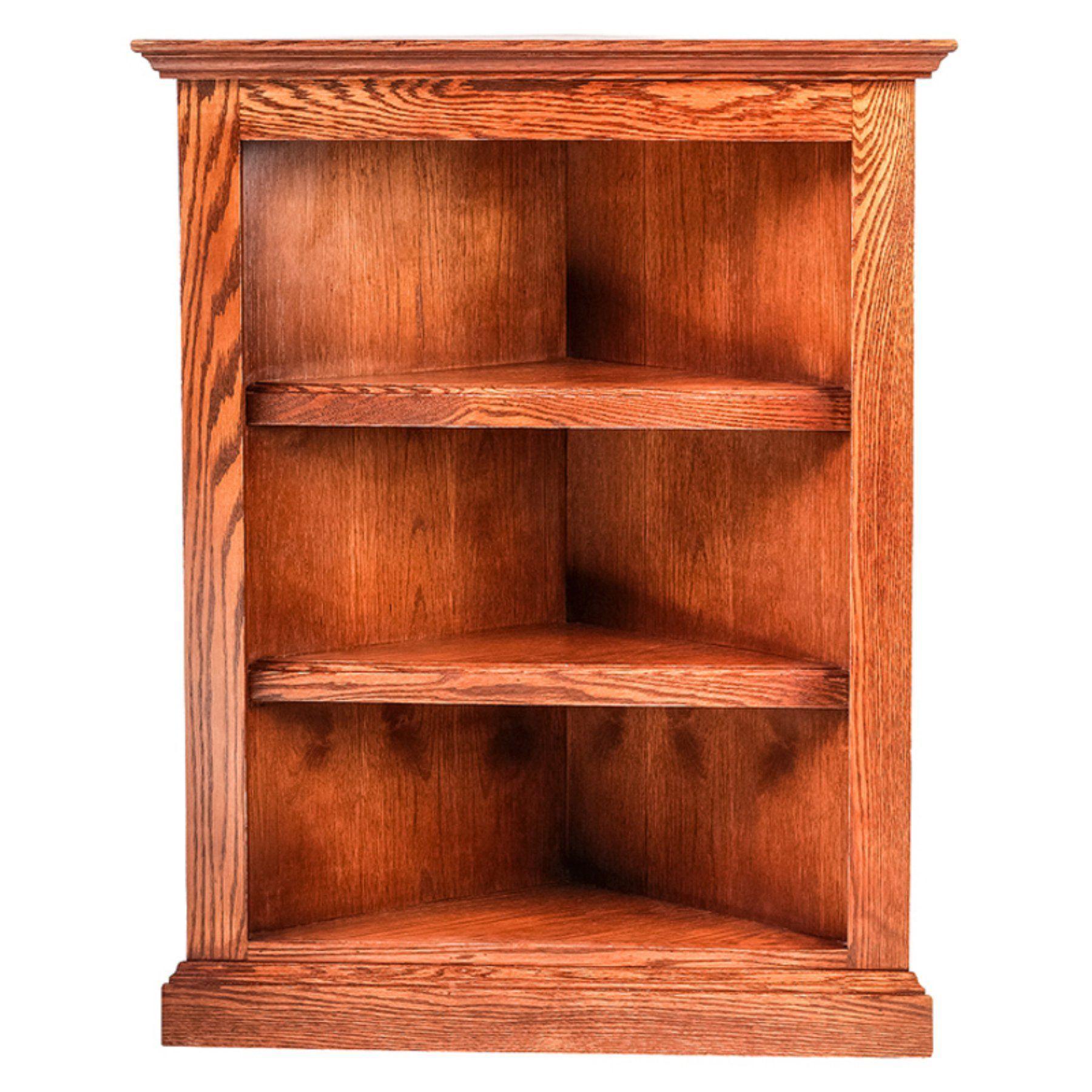 Forest Designs Traditional Oak Corner Bookcase - 6701- TR-30H-NA