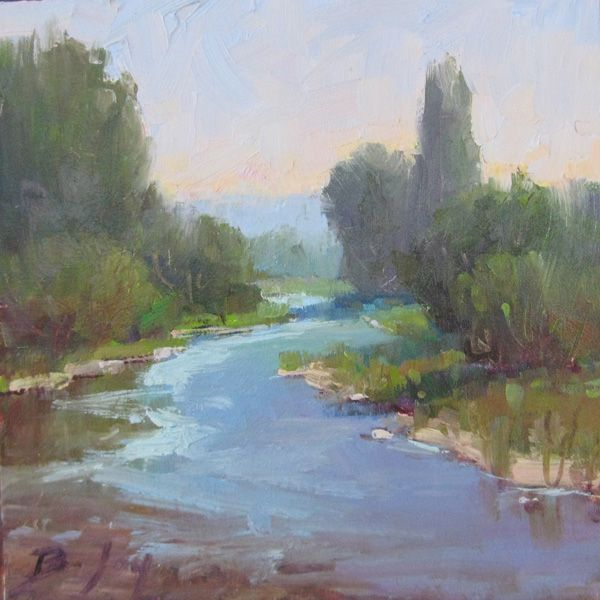 River Water Oil Landscape Daily Painting By Becky Joy Art Painting Artwork Painting Landscape Paintings