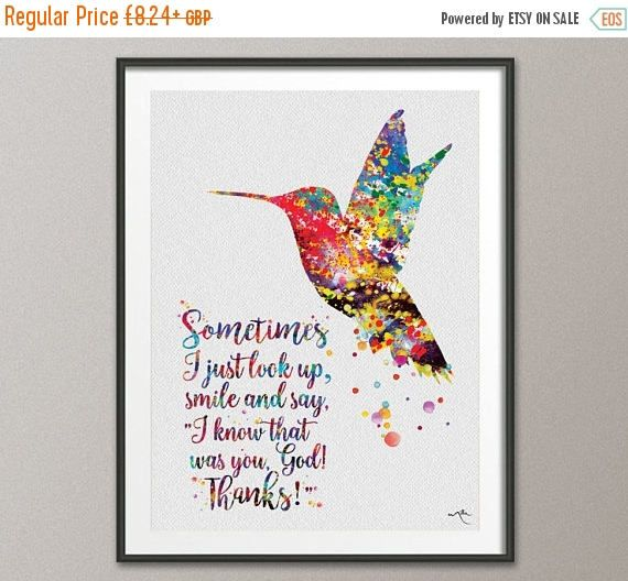 Hummingbirds God Says You are Canvas With Framed Poster no Framed