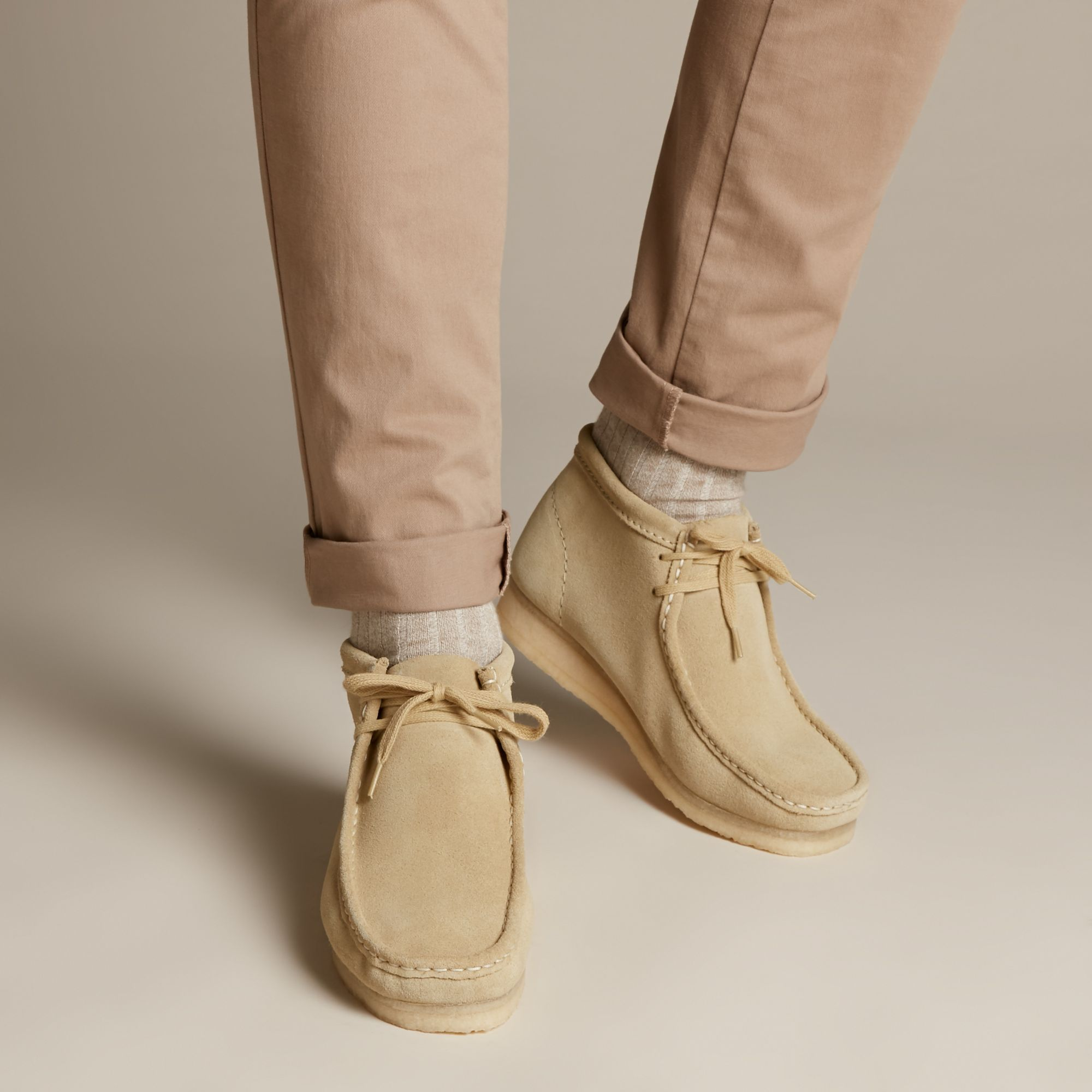Wallabee Boot Maple Suede - Clarks