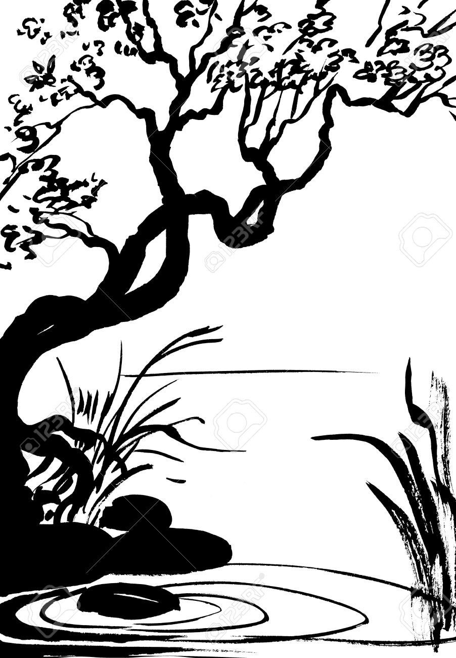 10+ Clipart Nature Images Black And White