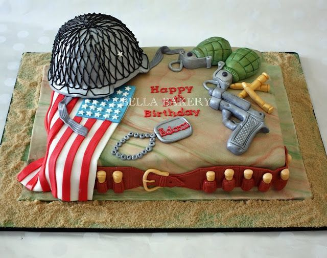boy army birthday cake Boys Birthday Cakes creative ARMY CAKE