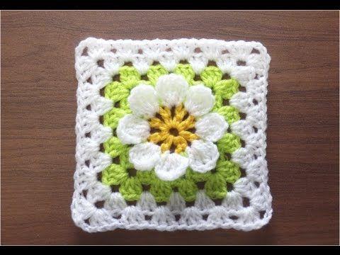CROCHET How to Crochet Flower Granny Square #TUTORIAL #171 LEARN ...