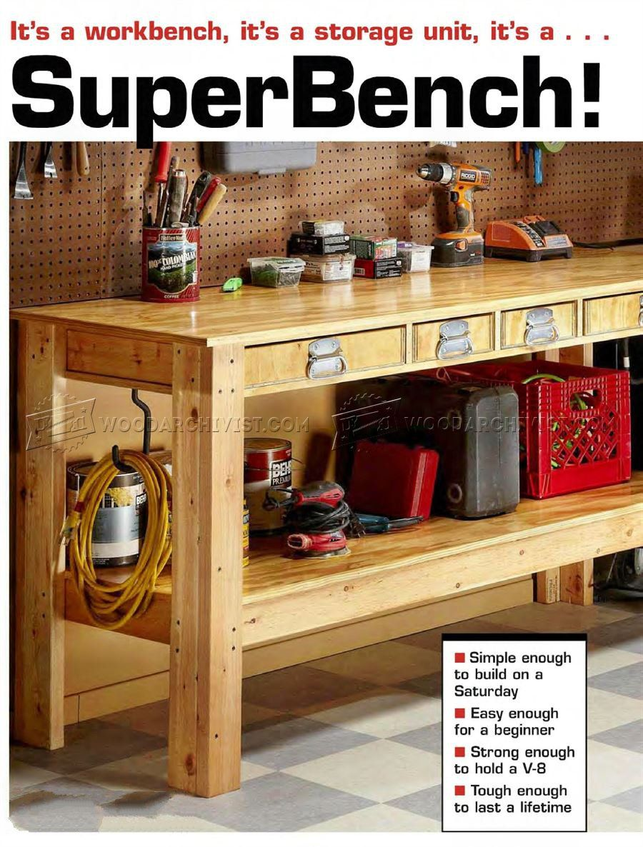 Plan D Etabli Bois 2739 simple workbench plans - workshop solutions | garage