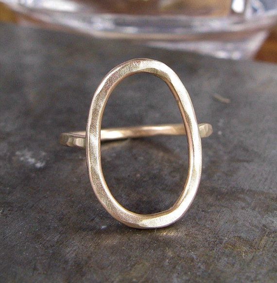 SAMPLE SALE - Recycled 14k Gold Organic Form Ring $200