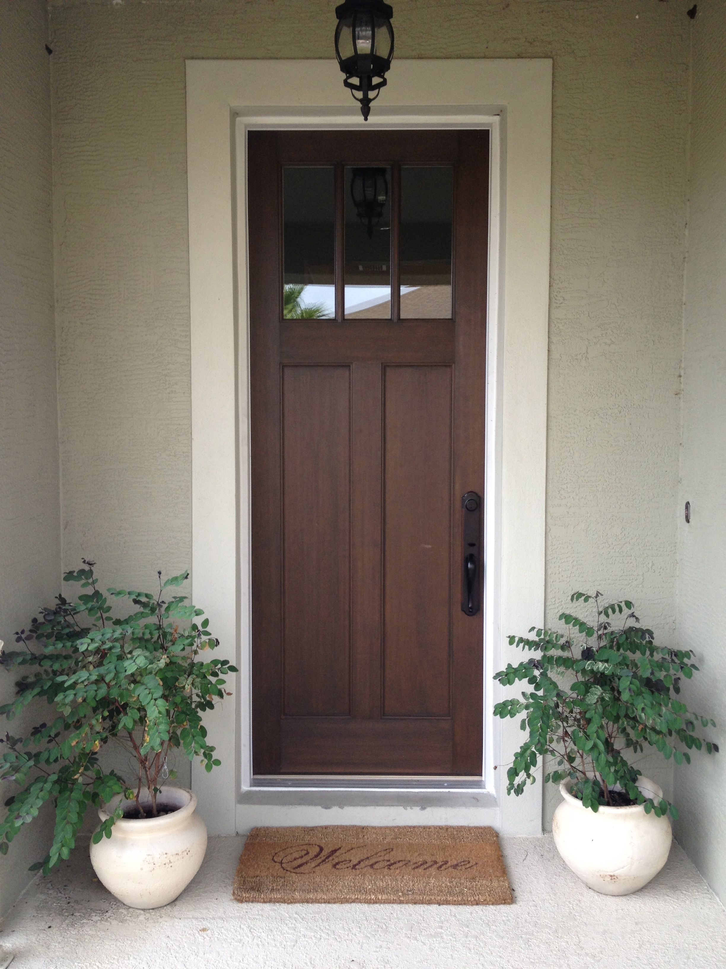 Craftsman style front doors -  Craftsman Style Front Door With A Walnut Stain