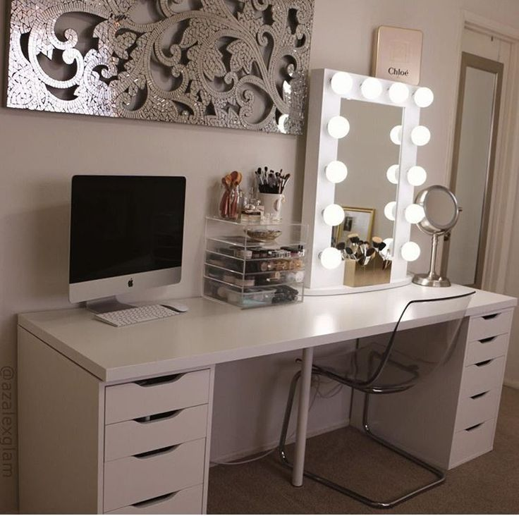 Ikea Units Give A Nice Long Desk With Plenty Of Easy To