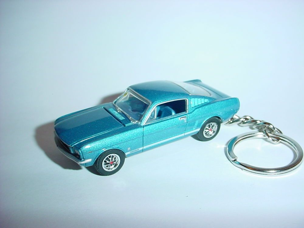 New D Blue  Ford Mustang Gt Fastback Custom Keychain Keyring Key  Muscle Unbranded