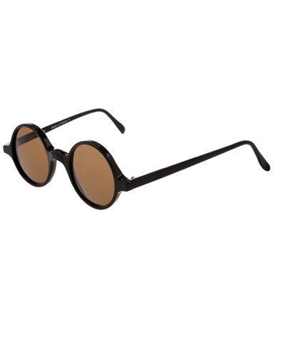 fce3628f9 LESCA Óculos De Sol Com Armação Vintage Redonda Preta. | PI 06062013 ...
