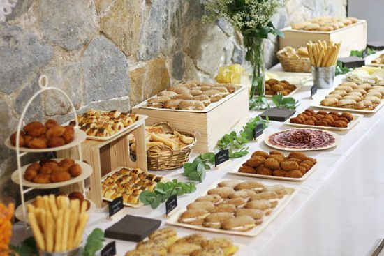 Catering salado r stic party idea pinterest ap ritif for Decoracion de canapes