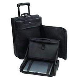 SOLO Rolling Carry-On Upright Garment Bag with Removable Laptop ...