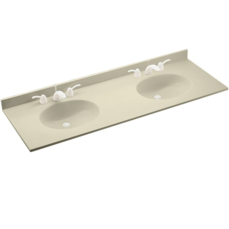 Swanstone Ch2b2273 Chesapeake One Piece Vanity Top And Double Sink