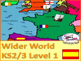 SIX LESSON PRIMARY SPANISH UNIT (KS2/3): Countries, Capitals