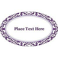 Templates Classic Purple Pattern Oval Labels 18 Per Sheet Avery Purple Pattern Labels Templates