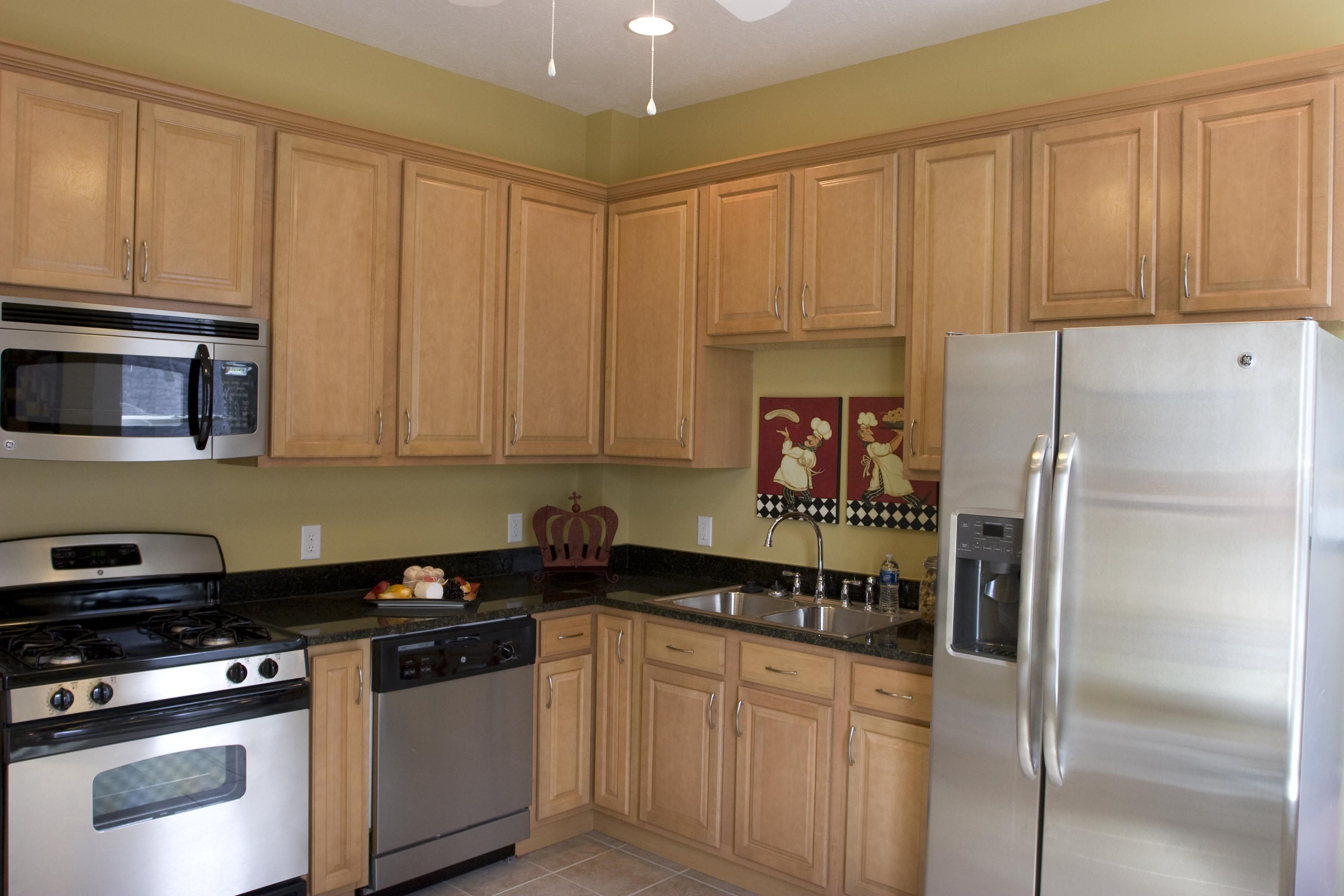 Birch Kitchen Cabinets All Wood Maple Or Birch Kitchen Cabinets With Granite Counterto Small House Kitchen Design House Design Kitchen Birch Kitchen Cabinets