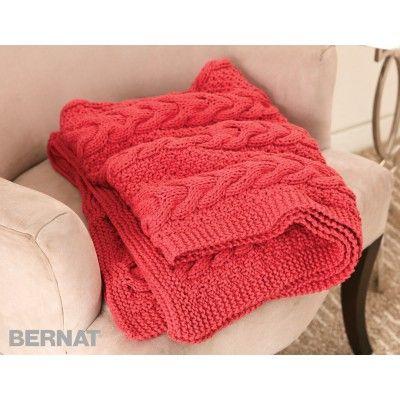 Free Easy Blanket Knit Pattern Bernat Yarnspirations Bernat