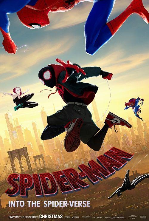 "Spider Man into the Spider Verse Movie Poster Comics Film Print 27x40/"" 24x36/"""