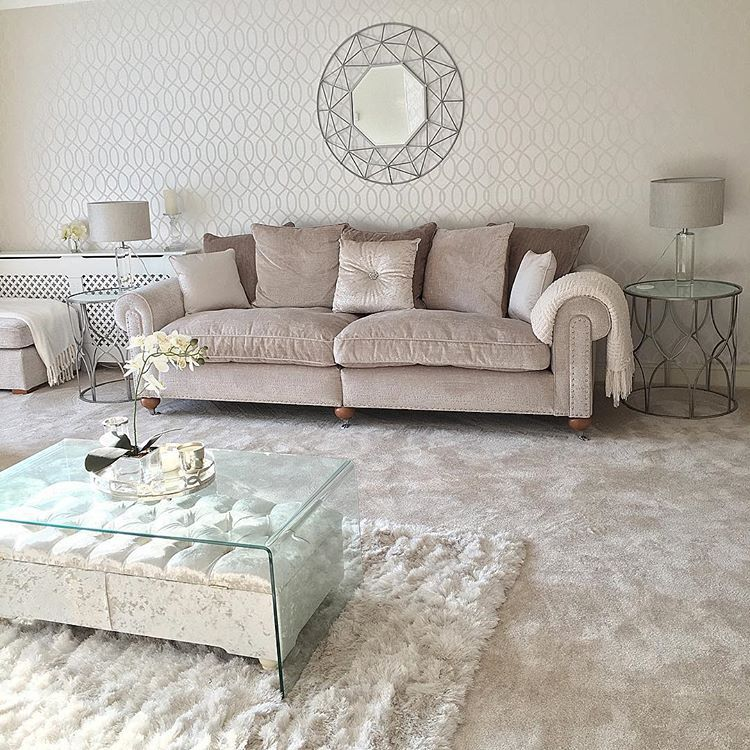 Large Ornate Silver Mirrored Side Table in 2020 | Silver ...