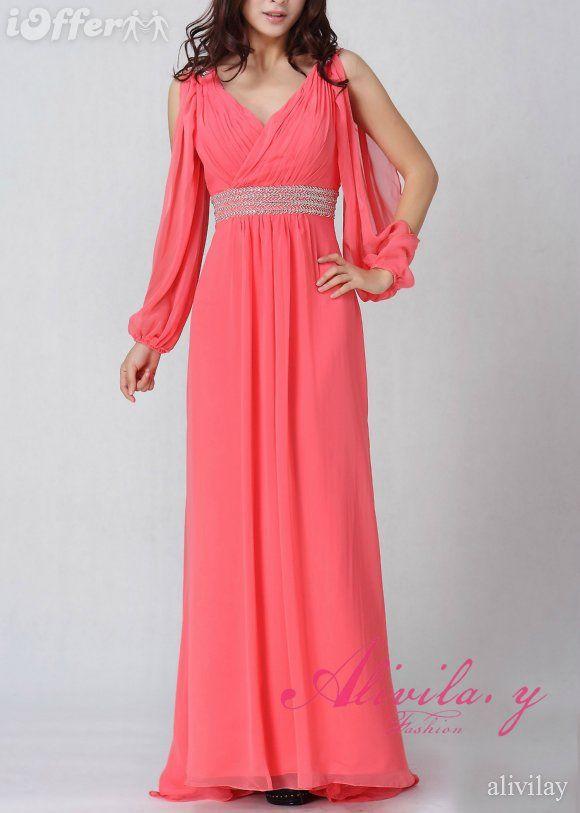 نتيجة بحث Google عن الصور حول http://cdn101.iofferphoto.com/img3/item/510/020/682/white-vneck-long-sleeve-chiffon-evening-prom-dress-9069-ad23.jpg