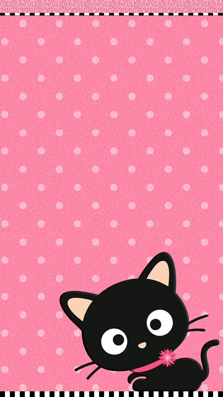 Cute Cat Pink Wallpaper IPhone