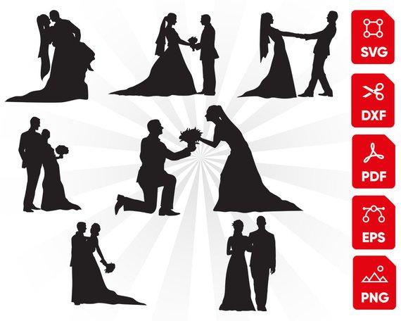 Mr and Mrs Svg Wedding Cut File Floral Wedding Svg Vector Svg Cutting file Bride Groom Svg Couple Svg Bride Clipart Cricut Silhouette