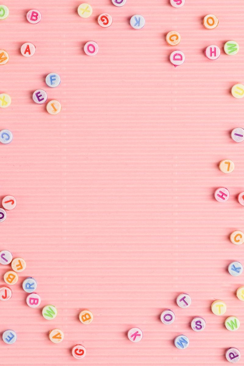 Letter Beads Border Pink Background Design Free Image By Rawpixel Com Kutthaleeyo Background Design Pink Background Letter Beads