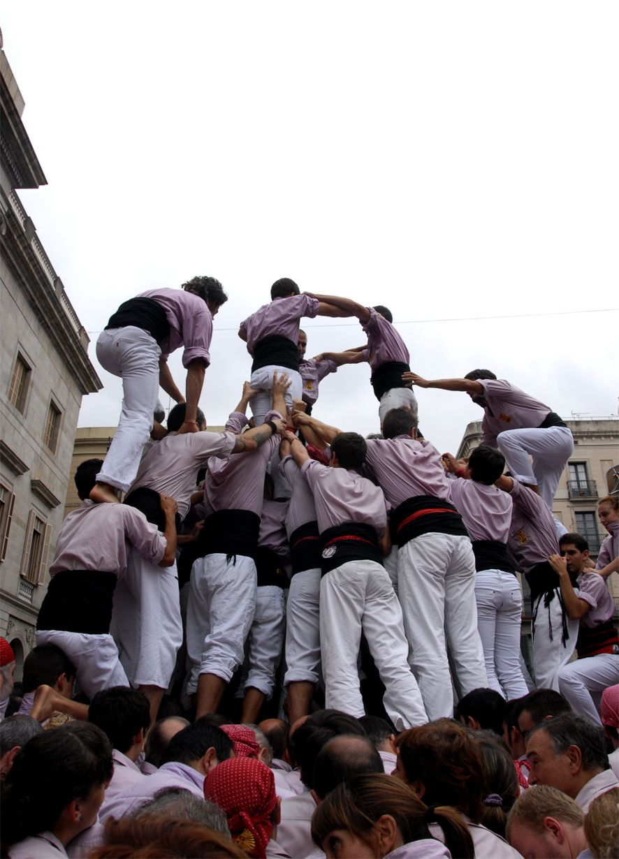 Building the Human Tower...