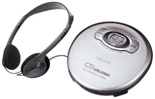 Sony DEJ611 Portable CD Player - Silver (Discontinued by