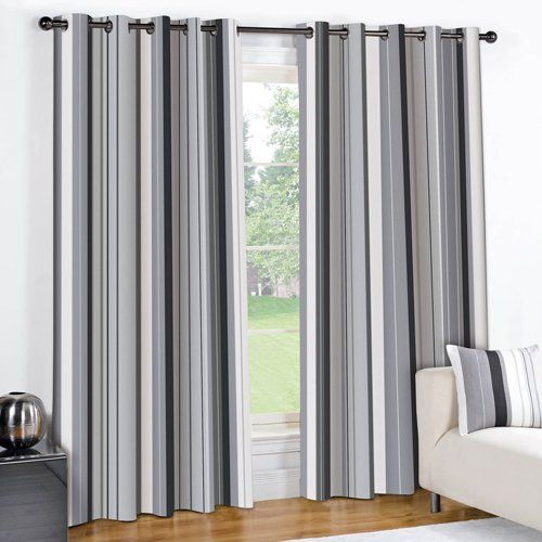 Striped Curtains For Classy Windows Goodworksfurniture In 2020 Black Curtains Gray Striped Curtains Striped Curtains