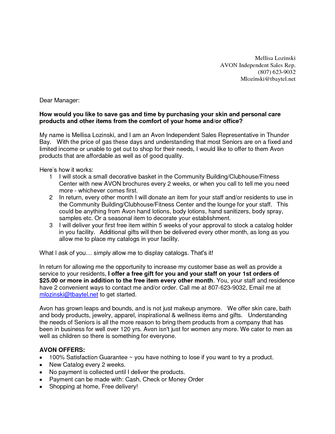 Letter to Senior Apartments   Business Forms and Templates ...