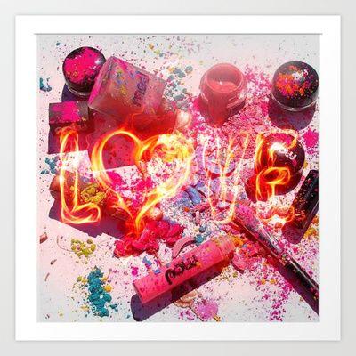 MakeUp Crush Art Print by LuxuryLivingNYC - $14.56